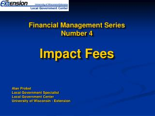 Financial Management Series  Number 4 Impact Fees