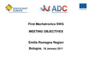 First Mechatronics SWG  MEETING OBJECTIVES Emilia Romagna Region