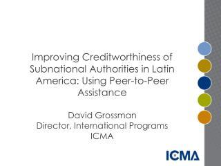 Regional Credit Rating Improvement Program