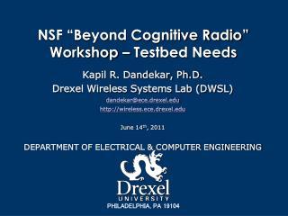 "NSF ""Beyond Cognitive Radio"" Workshop –  Testbed  Needs"