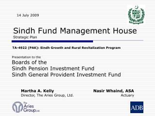 Sindh Fund Management House  Strategic Plan