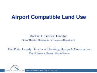 Airport Compatible Land Use