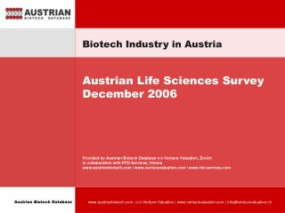Biotech Industry in Austria