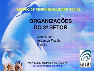 ORGANIZAÇÕES  DO 3º SETOR