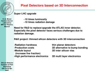 Pixel Detectors based on 3D Interconnection