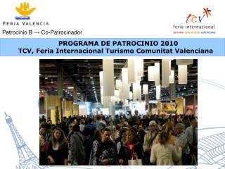 PROGRAMA DE PATROCINIO 2010
