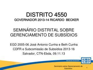 DISTRITO 4550 GOVERNADOR 2013-14 RICARDO  BECKER