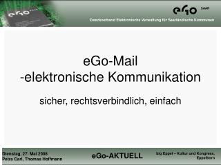 eGo-Mail -elektronische Kommunikation