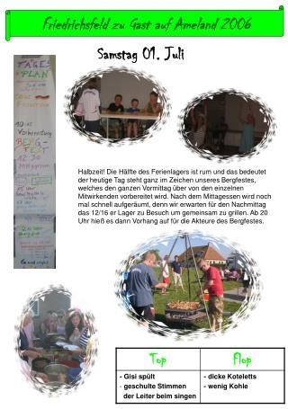 Friedrichsfeld zu Gast auf Ameland 2006