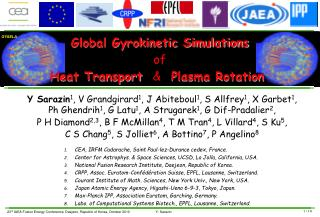 Global Gyrokinetic Simulations of Heat Transport   &   Plasma Rotation