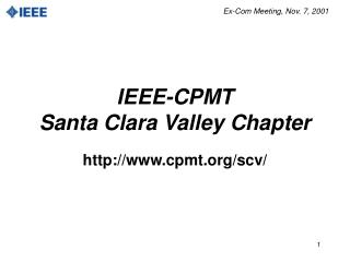 IEEE-CPMT Santa Clara Valley Chapter