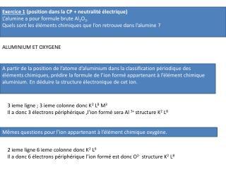 Exercice 1  (position dans la CP + neutralité électrique)