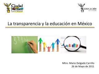 La transparencia y la educación en México