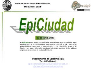 Gobierno de la Ciudad  de Buenos Aires Ministerio de Salud
