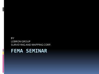 FEMA seminar