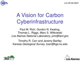 A Vision for Carbon Cyberinfrastructure
