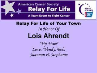 Relay For Life of Your Town
