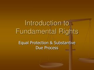 Introduction to Fundamental Rights