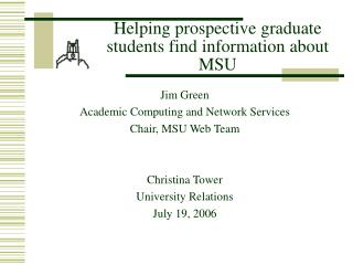 Helping prospective graduate students find information about MSU