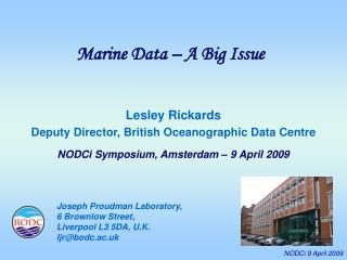 Marine Data – A Big Issue