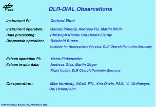 DLR-DIAL Observations