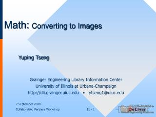 Math: Converting to Images