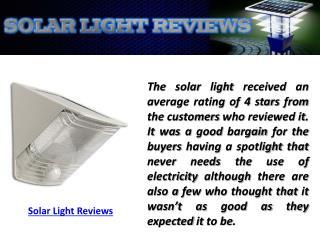 Solar Light Reviews