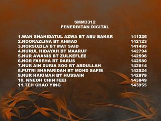 SMM3312 PENERBITAN DIGITAL  WAN SHAHIDATUL AZWA BT ABU BAKAR141226