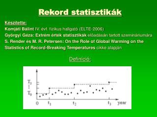 Rekord statisztikák