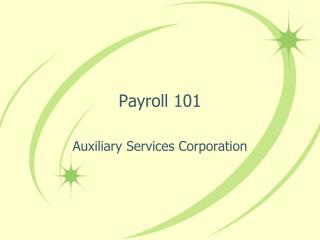 Payroll 101