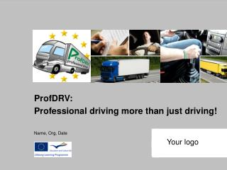 ProfDRV: Professional driving more than just driving! Name, Org, Date
