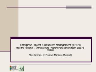 Enterprise Project & Resource Management (EPRM)
