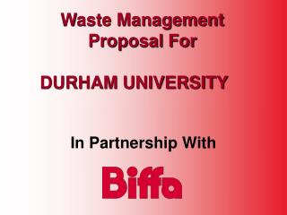 Waste Management Proposal For