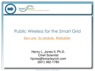 Public Wireless for the Smart Grid