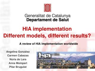 A review of HIA implementation worldwide