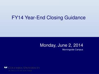 FY14 Year-End Closing Guidance