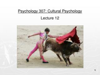 Psychology 307: Cultural Psychology Lecture 12