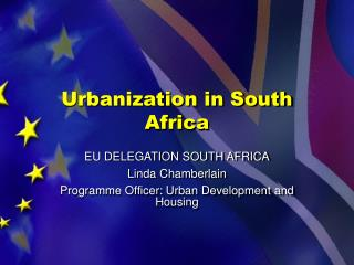Urbanization in South Africa