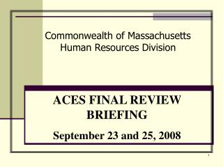Commonwealth of Massachusetts Human Resources Division