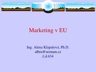 Marketing v EU