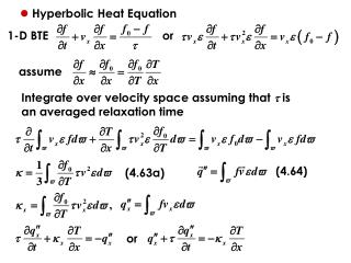 Hyperbolic Heat Equation