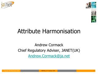 Attribute Harmonisation