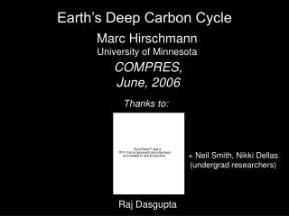 Earth's Deep Carbon Cycle
