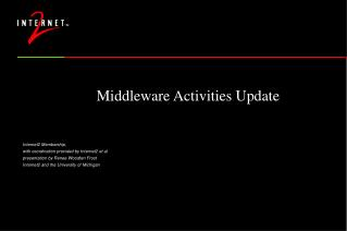 Middleware Activities Update