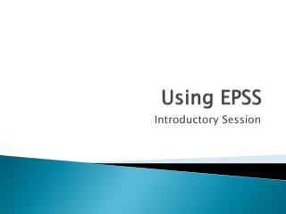 Using EPSS