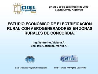 27, 28 y 29 de septiembre de 2010 Buenos Aires, Argentina