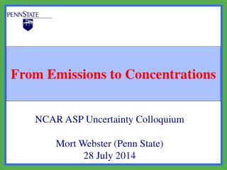 From Emissions to Concentrations