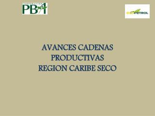 AVANCES CADENAS PRODUCTIVAS REGION CARIBE SECO