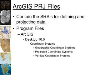ArcGIS PRJ Files