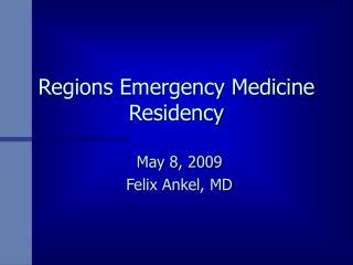 Regions Emergency Medicine Residency